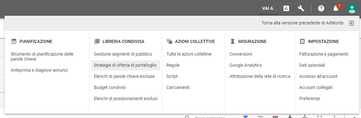 Guida Quota di Superamento Target Google AdWords