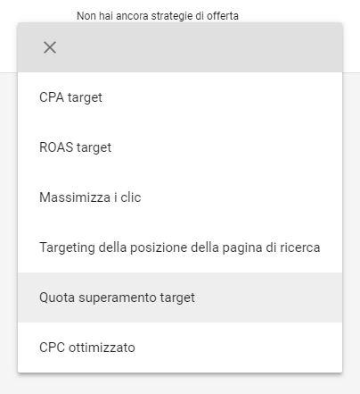 Guida Quota di Superamento Target Google AdWords