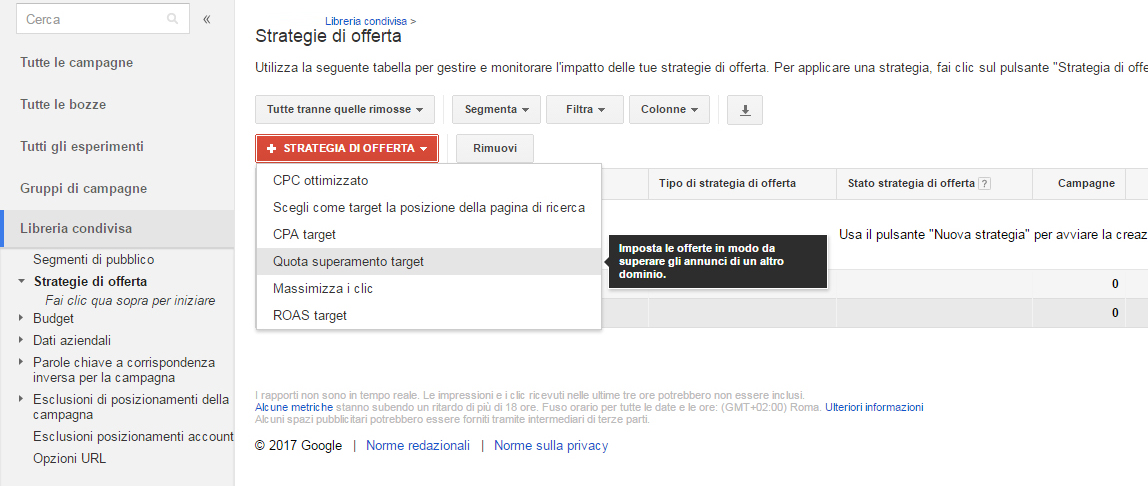 Guida Quota di Superamento Target Google AdWords 3