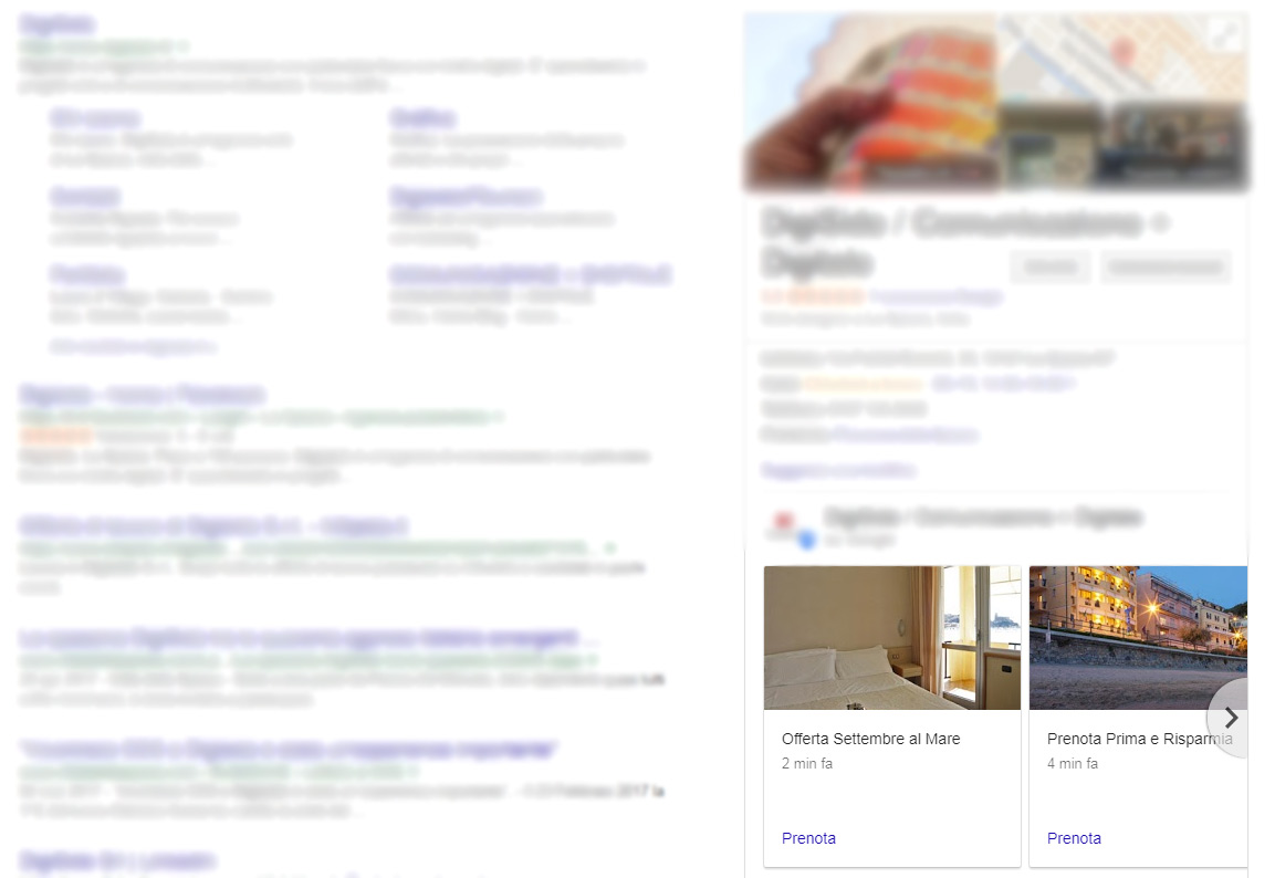Google Posts, SERP e knowledge panel