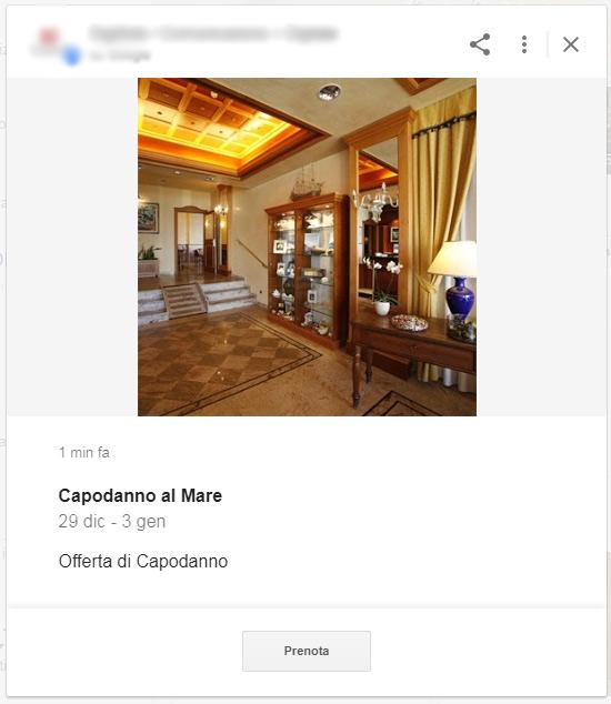 Google Posts, offerte ed eventi
