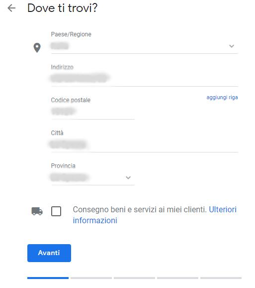 Scheda Google My Business non rivendicata