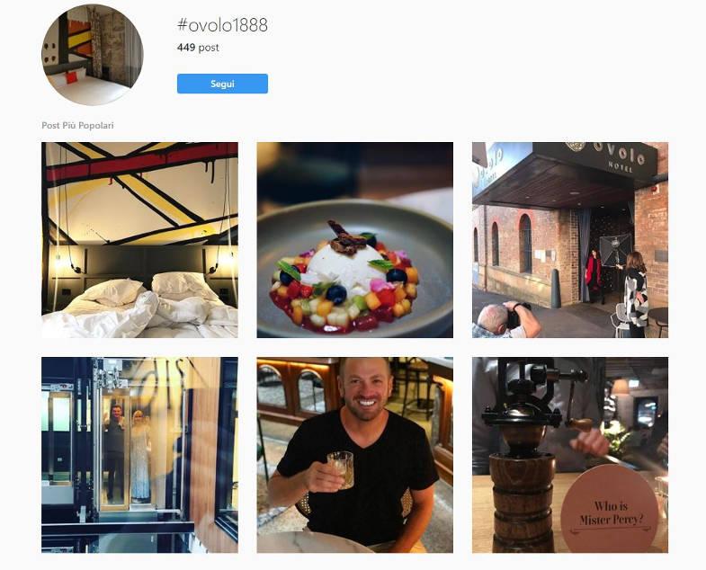 Pagina Instagram Sydney Ovolo Hotel