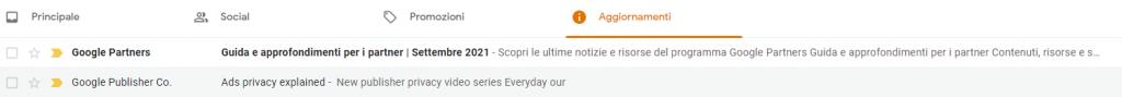 Anteprima testo su Gmail